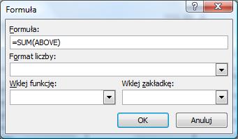 Okno dialogowe formuła (word)