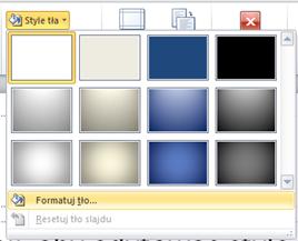 powerpoint formatuj tło