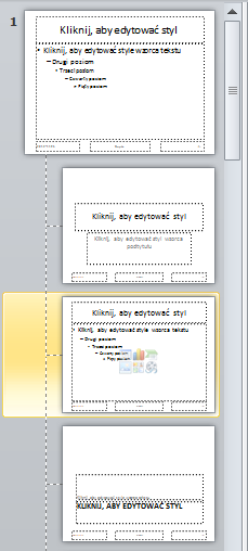 powerpoint wzorzec slajdów miniaturki