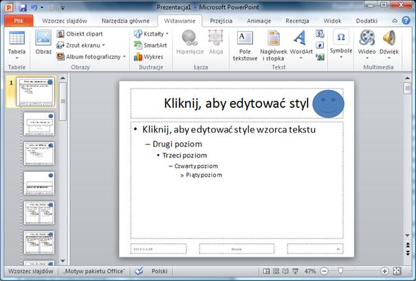 powerpoint wzorzec slajdu wstawienie loga
