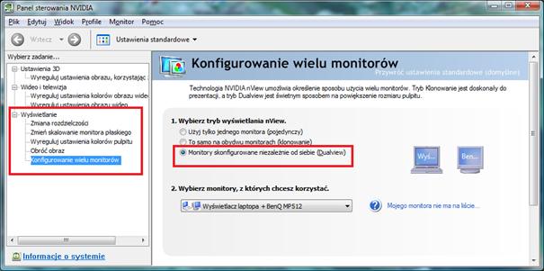 konfigurowanie wielu monitorów