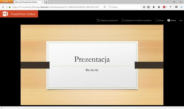 prezentacja online